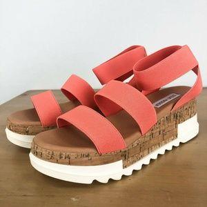 STEVE MADDEN Bandi Platform Wedge Sandal 8M